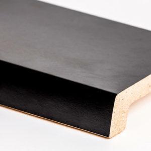 Подоконник из австрийского ДСП Topalit Черный (407) Mono Design