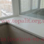 Фото белого подоконника Топалит, установленного в Киеве