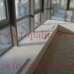 Foto: установка подоконника при витражных окнах в Одессе